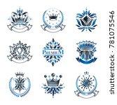 flowers  royal symbols  floral... | Shutterstock . vector #781075546