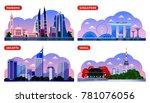 singapore  seoul  jakarta ...   Shutterstock .eps vector #781076056