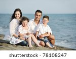 happy young family have fun and ... | Shutterstock . vector #78108247