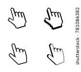 pixel cursor icon. mouse... | Shutterstock .eps vector #781086382
