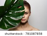 young beautiful woman with a... | Shutterstock . vector #781087858
