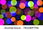 vector background with colored... | Shutterstock .eps vector #781089796