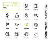 time concept   line design... | Shutterstock .eps vector #781091752