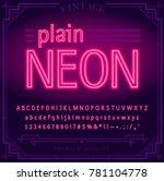 bright neon alphabet letters ...   Shutterstock .eps vector #781104778
