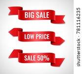 set of decorative sale banners... | Shutterstock .eps vector #781116235