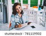 half length portrait of... | Shutterstock . vector #781119502