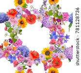 seamless floral pattern on... | Shutterstock . vector #781128736