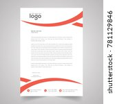 wave corporate identity set or... | Shutterstock .eps vector #781129846