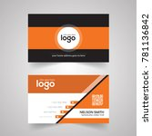 orange color modern   creative... | Shutterstock .eps vector #781136842