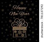 happy new year. vector card.  | Shutterstock .eps vector #781137292