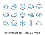 weather related line icons....