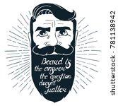 illustration with bearded man... | Shutterstock .eps vector #781138942