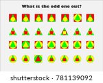 what is the odd one out ... | Shutterstock .eps vector #781139092