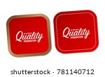 premium quality stickers | Shutterstock .eps vector #781140712