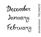 winter months  december ...   Shutterstock .eps vector #781148152