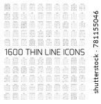 exclusive 1600 thin line icons...