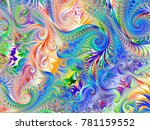 abstract fractal background... | Shutterstock . vector #781159552