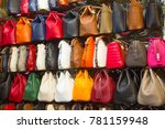 istanbul   may 3  faked bags on ... | Shutterstock . vector #781159948