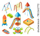 vector isometric pictures of... | Shutterstock .eps vector #781161772