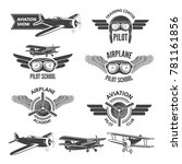 labels set with illustrations... | Shutterstock .eps vector #781161856
