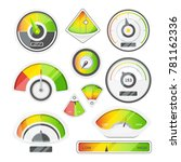 different speed indicators.... | Shutterstock .eps vector #781162336