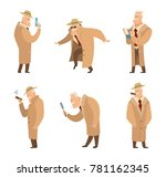 policeman or detective search... | Shutterstock .eps vector #781162345