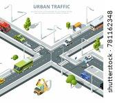 city crossroad. illustrations... | Shutterstock .eps vector #781162348