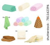 different colored towels for... | Shutterstock .eps vector #781162396