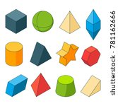 3d model of geometry shapes.... | Shutterstock .eps vector #781162666