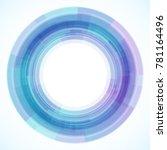 geometric frame from circles ... | Shutterstock .eps vector #781164496