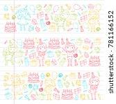 happy birthday vector design... | Shutterstock .eps vector #781166152