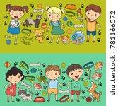 children zoo pet shop... | Shutterstock .eps vector #781166572