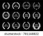 set of laurel wreaths. heraldic ...   Shutterstock .eps vector #781168822
