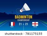 badminton tournament design...   Shutterstock .eps vector #781175155