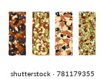 various vector granola bars... | Shutterstock .eps vector #781179355