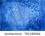 watercolor cosmic texture with... | Shutterstock . vector #781180066