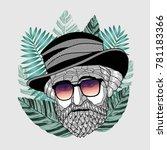 hipster portrait of composer...   Shutterstock .eps vector #781183366