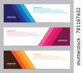 modern abstract banner with... | Shutterstock .eps vector #781187632