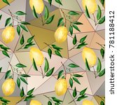 seamless colorful pattern.... | Shutterstock . vector #781188412