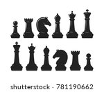 chess pieces. game concept.... | Shutterstock .eps vector #781190662