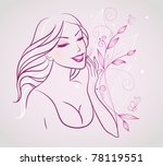 beauty woman | Shutterstock . vector #78119551