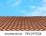 house roof on the sky. | Shutterstock . vector #781197028