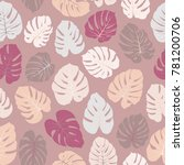 vector tropical pattern with... | Shutterstock .eps vector #781200706