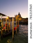 Waterfront Of Venice  Italy At...