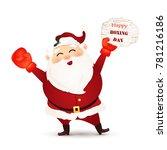 happy boxing day. cartoon cute  ...   Shutterstock . vector #781216186