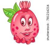 cartoon pomegranate character.... | Shutterstock .eps vector #781216216
