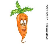 cartoon carrot character. happy ... | Shutterstock .eps vector #781216222