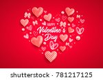 happy saint valentines day... | Shutterstock .eps vector #781217125