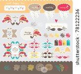 sweet  lovely and happy scrap... | Shutterstock .eps vector #78122236