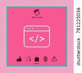 code editor icon | Shutterstock .eps vector #781225036